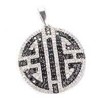 SS 1.25CTW BLACK & WHITE DIAMOND PENDANT