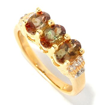 127-165 - NYC II 1.18ctw Andalusite & White Zircon Ring