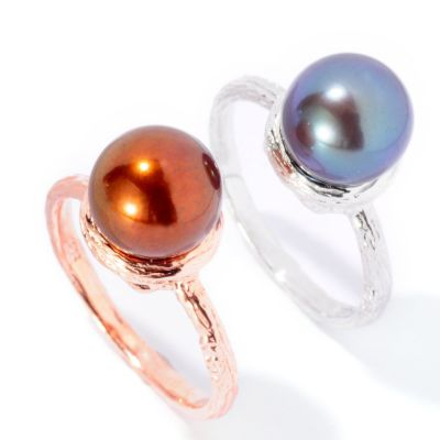 127-167 - Set of Two 8.5-9mm Freshwater Cultured Pearl Stacker Ring
