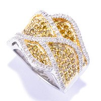 SS 1.25CTW YELLOW DIAMOND RING