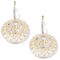 14 YG .5CTW WHITE DIAMOND DROP EARRINGS