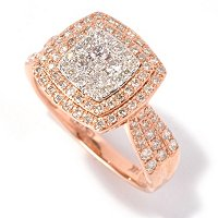 EFFY 14K WHITE/ ROSE GOLD DIAMOND RING