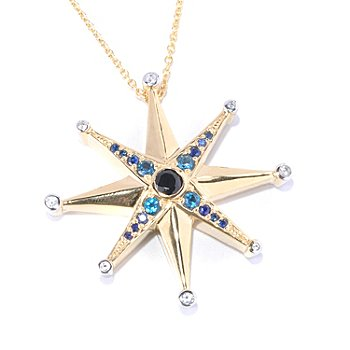 127-216 - Colette 1.64ctw Black Spinel & Multi Gemstone ''Galaxia'' Pendant