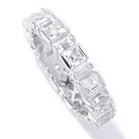 TYCOON SS/PLAT SQUARE AND RECTANGULAR TENSION SET ETERNITY BAND RING