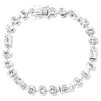 TYCOON SS/PLAT ROUND AND RECTANGLE TYCOON CUT TENTION SET BRACLET
