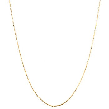127-279 - Italian Designs with Stefano 14K Gold Diamond Cut Necklace