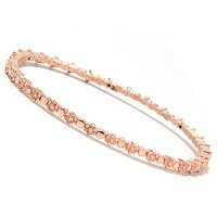 14K ORO VITA ELECTROFORM CORONA DI FIORI BANGLE -