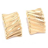 14K ORO VITA ELECTROFORM MAESTOSO EARRINGS