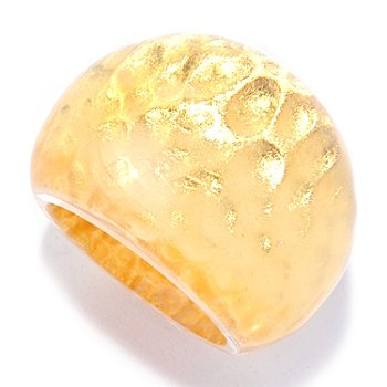 127-286 - Italian Designs with Stefano 24K ''Oro Puro'' Gold Foil Hammered Ring