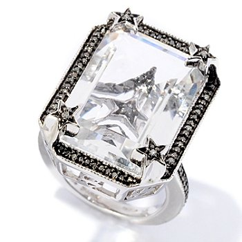 127-288 - Glenn Bradford 16.07ctw Quartz & Diamond ''Francesca II'' Ring
