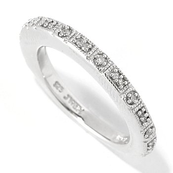127-293 - Glenn Bradford 0.10ctw Diamond ''Rebecca'' Stack Ring