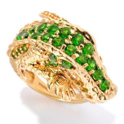 127-306 - NYC II 1.89ctw Chrome Diopside Alligator Ring