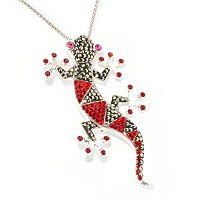 SS PEND PIN LIZZARD WITH MARCASITE