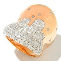 14K CHOICE VERMEIL AND CHOICE DIAMOND SCATTER BAND RING