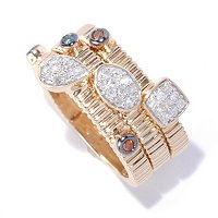 14K YG VERMEIL DIAMOND STACK RING