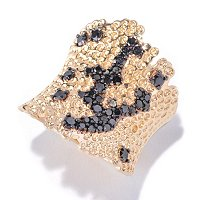 14K YG VERMEIL BLACK DIAMOND RING