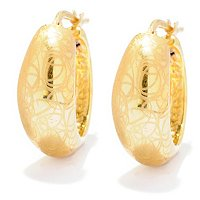 14K ORO VITA ELECTROFORM HOOP EARRINGS