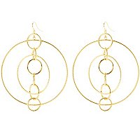 14K MULTI CIRCLES EARRINGS