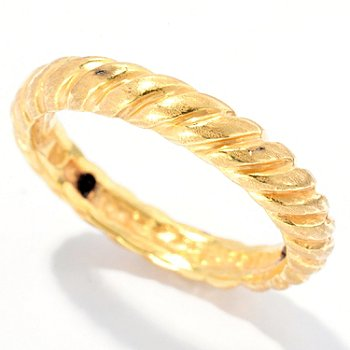 127-391 - Italian Designs with Stefano 14K ''Oro Vita'' Electroform Canapo Ring