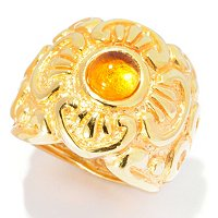 14K ORO VITA ELECTROFORM PREZIOSO RING W/CITRINE CENTER