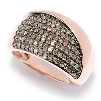 14K RG MOCHA DIAMOND WIDE BAND RING