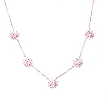 "127-458 - Sonia Bitton for Brilliante® 18"" 3.68 DEW Prong Set Flower Station Necklace"