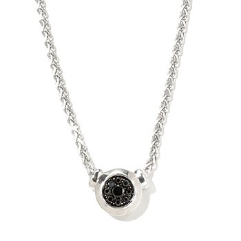 127-464 - Gem Treasures Sterling Silver Black Spinel Pendant