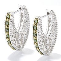 SS CHOICE DIAMOND HOOP EARRINGS