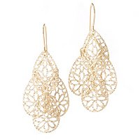 18K FANCY DANGLE EARRINGS