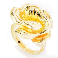 IDS 14K ORO VITA ELECTROFORM FLOWER RING