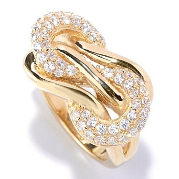 127-570 - Sonia Bitton for Brilliante® Pave Round Cut Polished Knot Ring