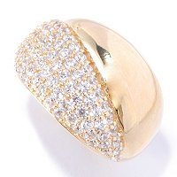 SB SS/CHOICE ROUND CUT PAVE AND POLISHED RING