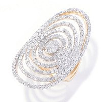 14K YG MULTI CIRCLE RING