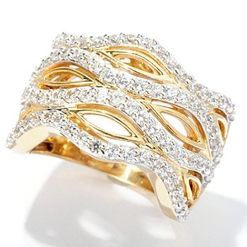 127-613 - Sonia Bitton for Brilliante® Gold Embraced™ 1.39 DEW Round Cut Open Work Ring