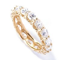 BLTA SS/CHOICE EAST WEST OVAL CUT SHARED PRONG ETERNITY BAND RING