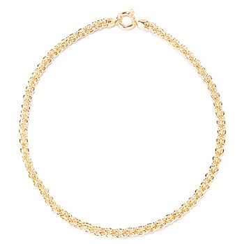 127-655 - Portofino Gold Embraced™ 20'' Polished Fancy Link Necklace