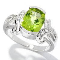 SS REC CUSHION PERIDOT RING