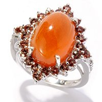 SS AUTUMN RED ARGONITE RING