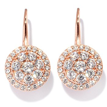 127-730 - Sonia Bitton for Brilliante® 2.09 DEW Round Cut Circle Drop Earrings
