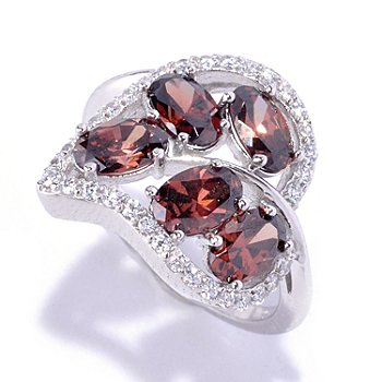 127-770 - Brilliante® Platinum Embraced™ 2.49 DEW Mocha Oval Cut Leaf Ring