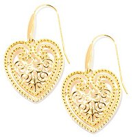 SS/18KYGP EAR ORNATE HEART DROP