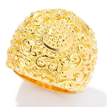 127-814 - Jaipur Bazaar Gold Embraced™ Ornate Textured Ring