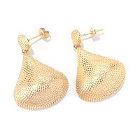 SS/18KYGP EAR SMOOTH BEADED PEAR DROP