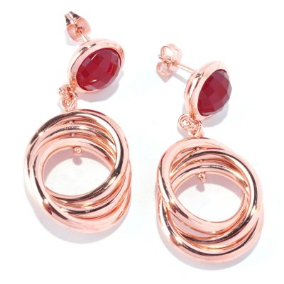 127-823 - Milano Luxe Gold Embraced™ Carnelian Multi Link Drop Earrings