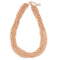 "BRONZE/18KGP NECK DIAMOND-CUT MULTI STRAND - 18"" w/ 2"" EXT"