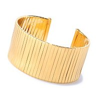 BRONZE/18KGP BRAC WRAPPED WIDE CUFF