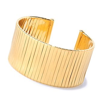 127-831 - Milano Luxe Gold Embraced™ 7'' Wrapped Wide Cuff Bracelet