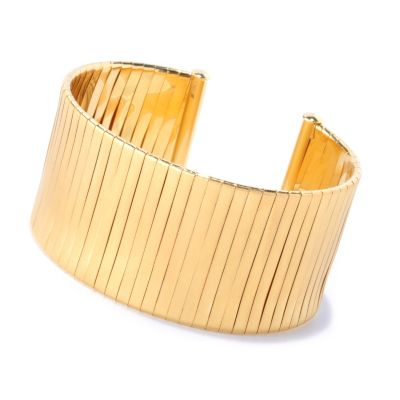 "127-831 - Milano Luxe Gold Embraced™ 7"" Wrapped Wide Cuff Bracelet"