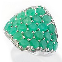SS/P RING SAKOTA EMERALD