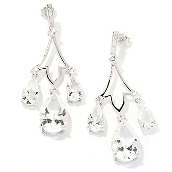 127-862 - NYC II 15.23ctw White Quartz Chandelier Earrings